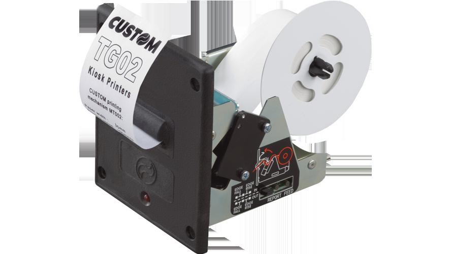Custom TG02 Thermal Kiosk Printer Seial tearbar 12v