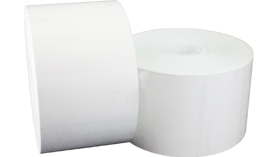 """t12516400 60mm 400' hecon c56 carwash 11/16"""" thermal paper roll"""